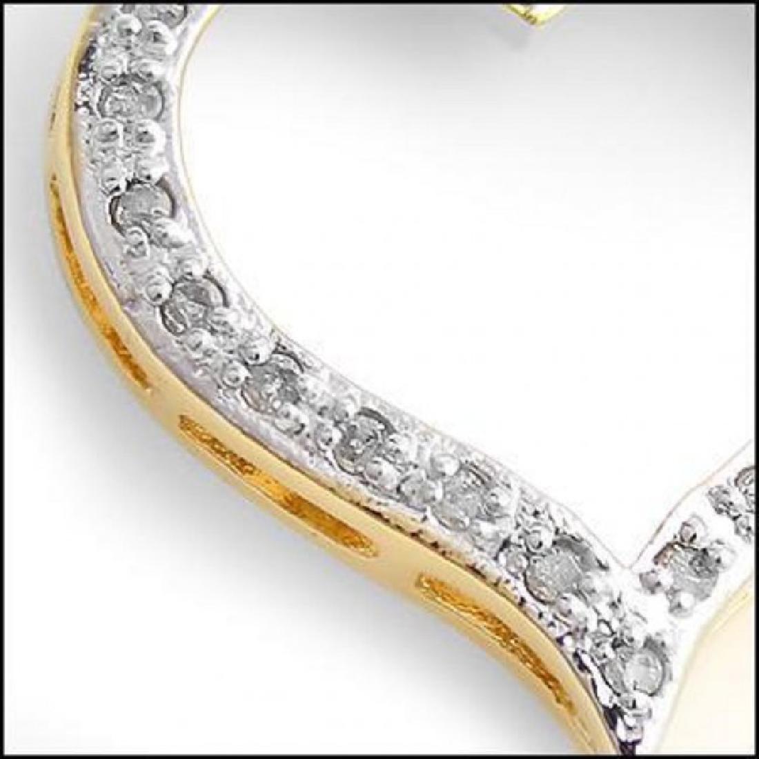 0.46 CT Diamond Heart Designer Necklace $775 - 2