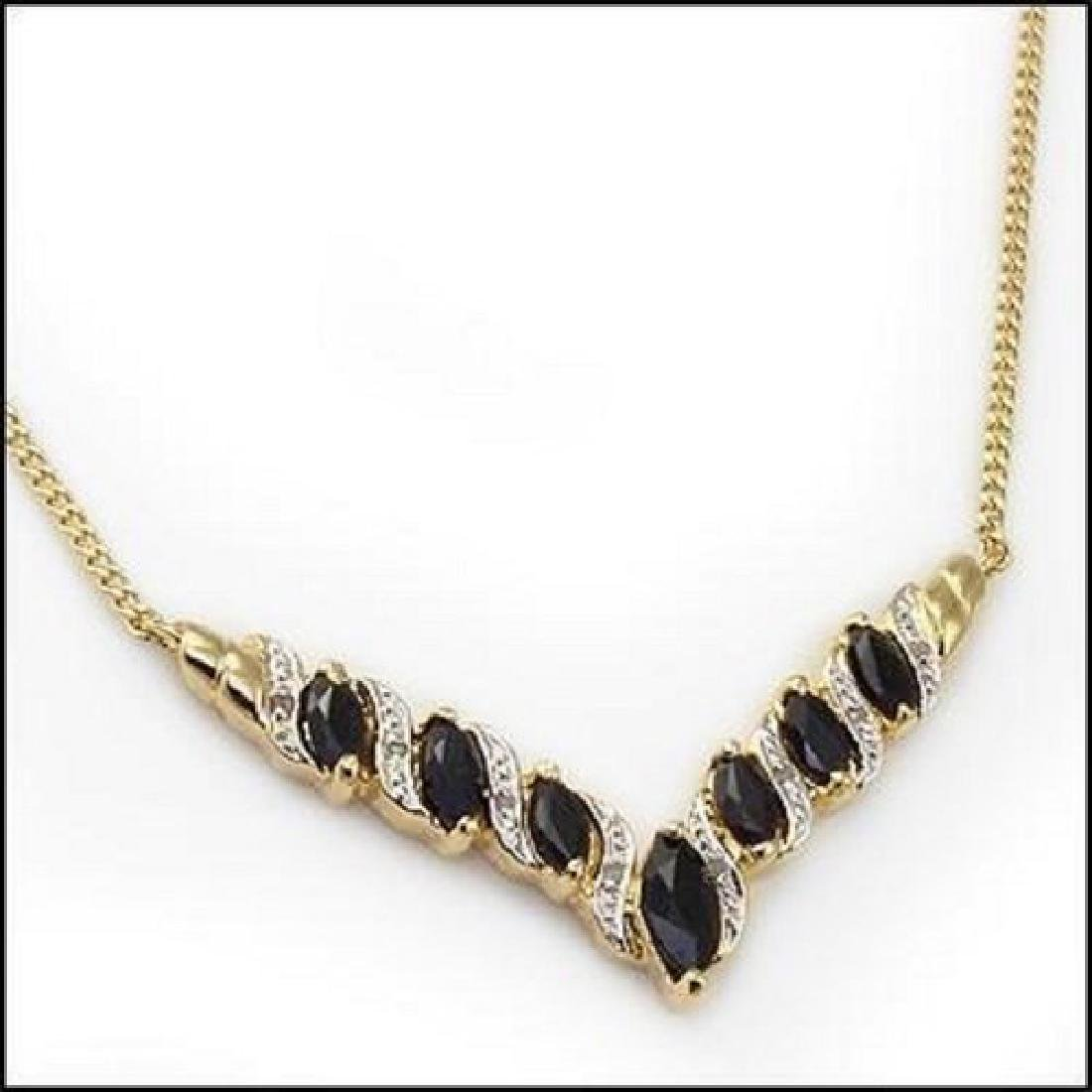 6.92 CT Sapphire & Diamond Designer Necklace MSRP $1120