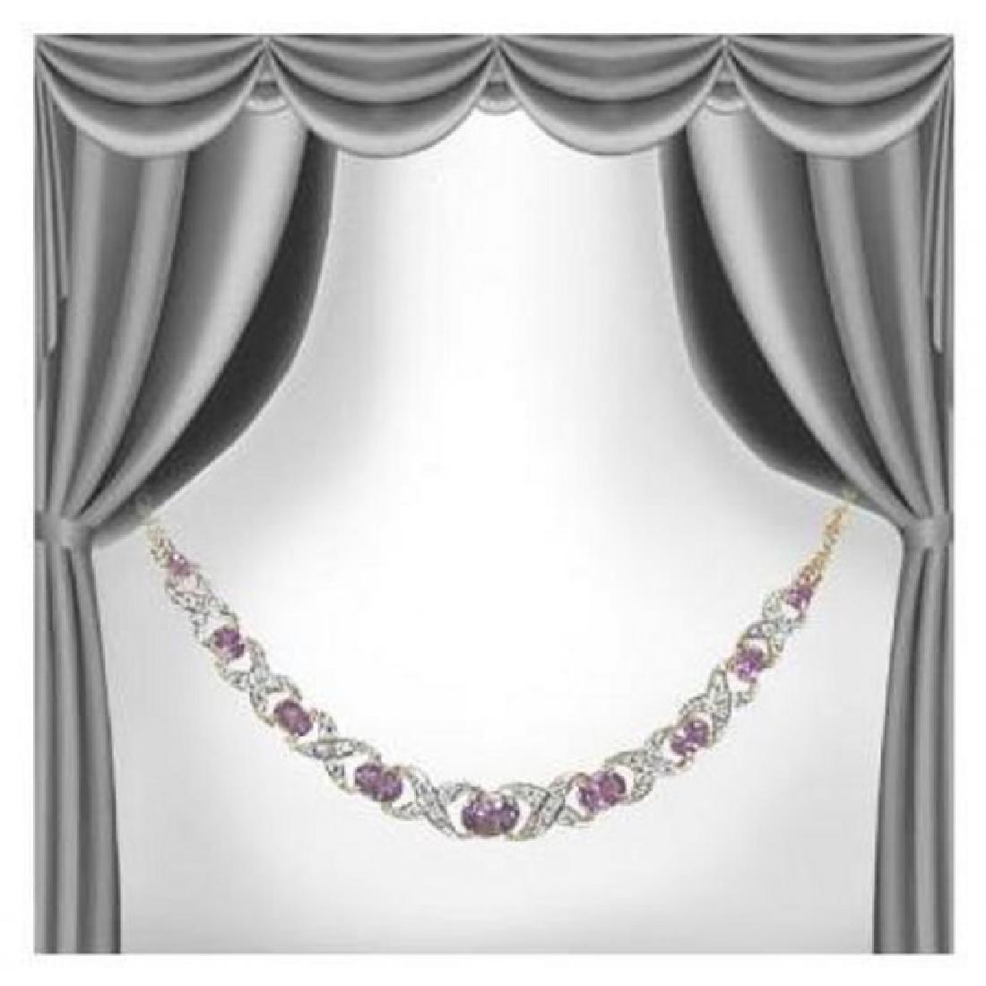 12.89 CTW Amethyst & Diamond Fine Necklace $1265