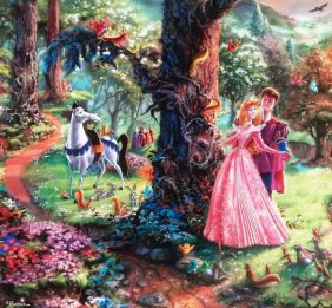 Kinkade Lithograph Disney - Sleeping Beauty