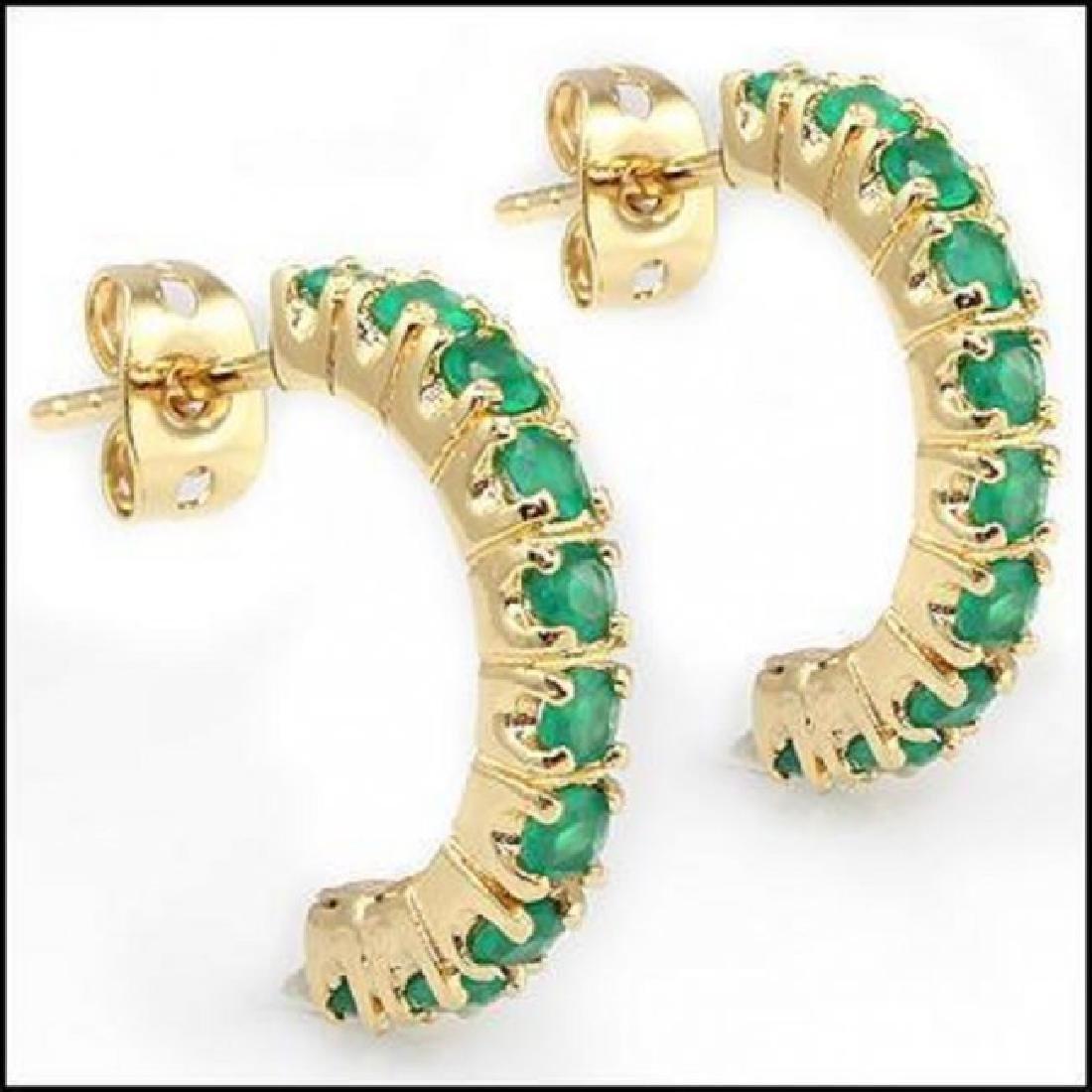 3.32 CT Green Agate Hoppes Designer Earrings $860 - 2