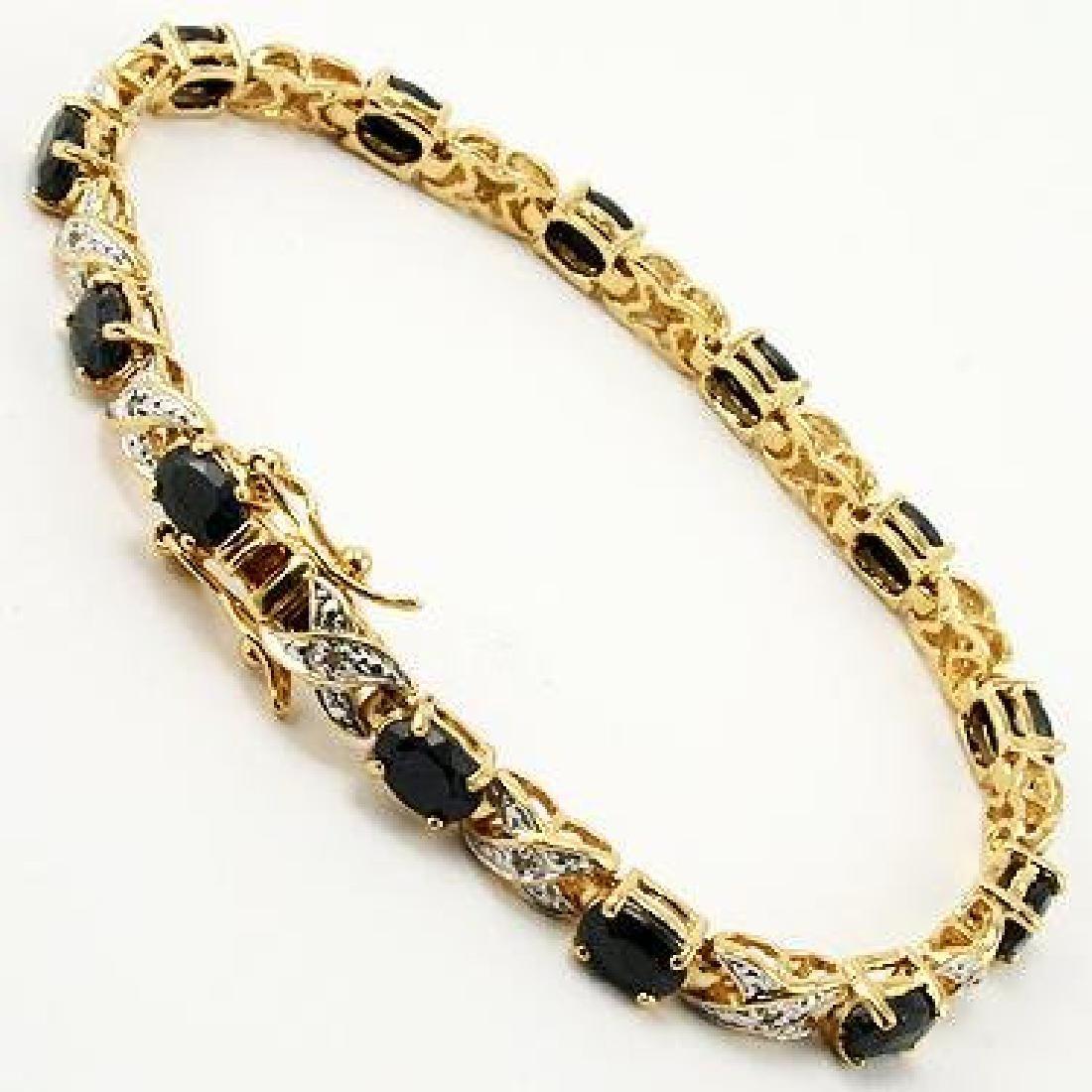 Amazing 12 CT Sapphire Diamond Bracelet