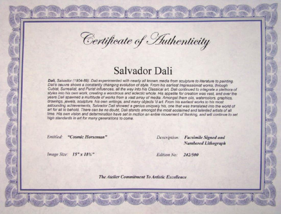 Salvador Dali Lithograph Cosmic Horseman - 2
