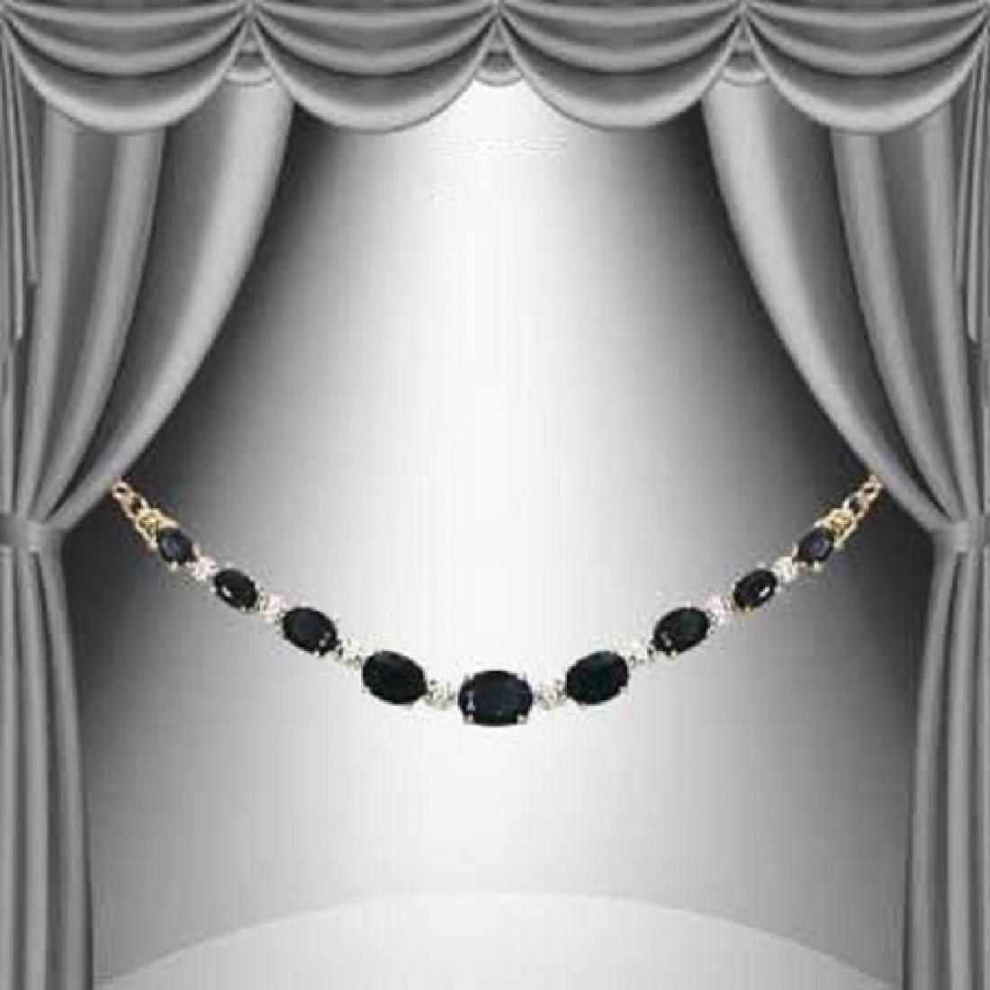 11.27 CT Black Sapphire & Diamond Necklace $1580