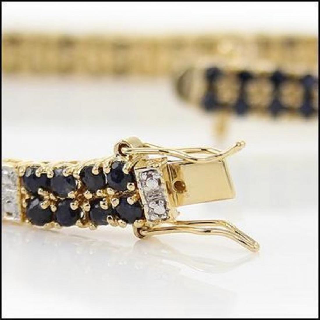 Jewelry Sale 17.69 CT Sapphire & Diamond Bracelet - 3