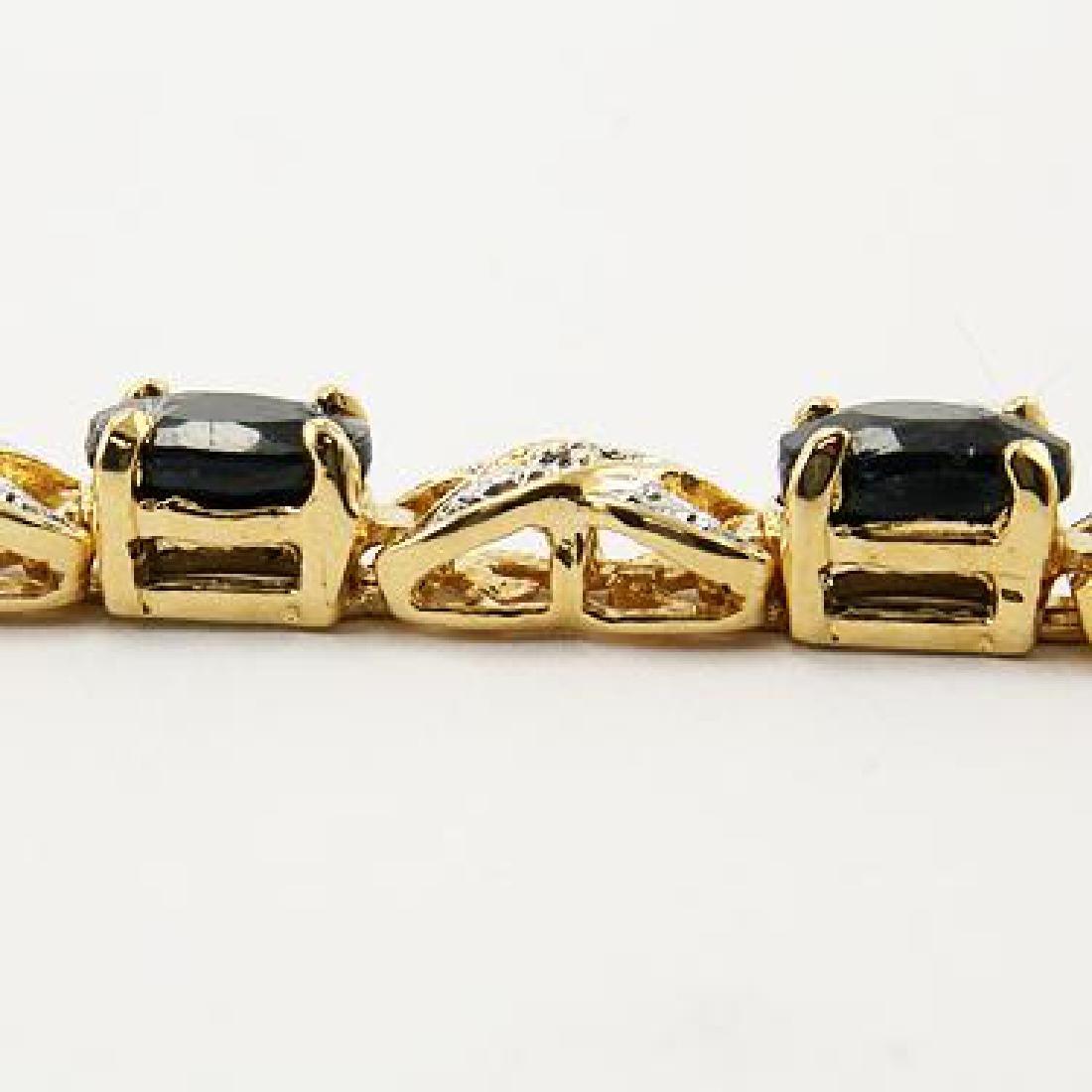 Amazing 12 CT Sapphire Diamond Bracelet - 3