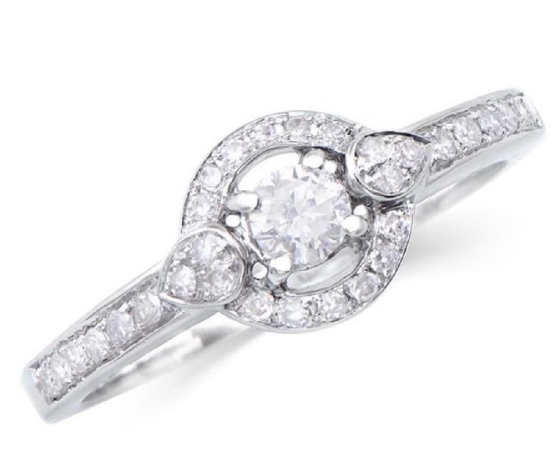 0.37 Ct Certified Diamond 14K Designer Gold Ring $8,099