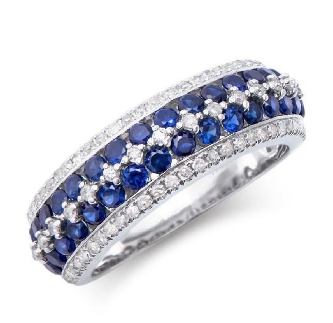 1.49 Cts Certified Sapphire & Diamond 14K Ring $5,841!