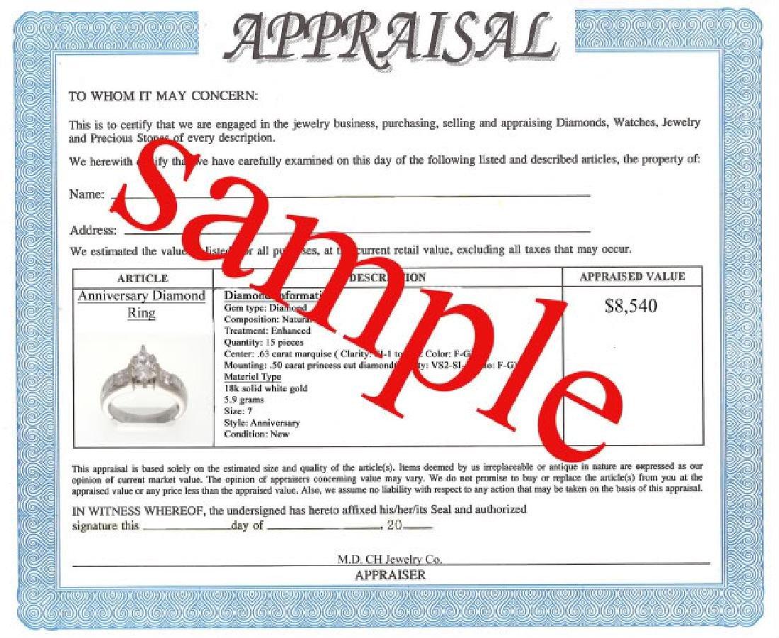 3.40 CT Amethyst Diamond Pendant Appraised $3,500 - 3