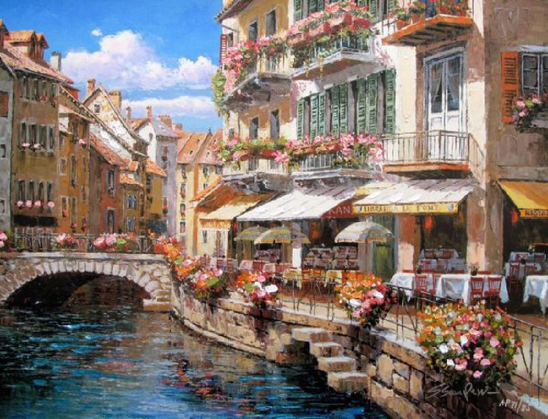 Sam Park BRIDGEWALK ANNECY Ltd Ed. Giclee on Canvas