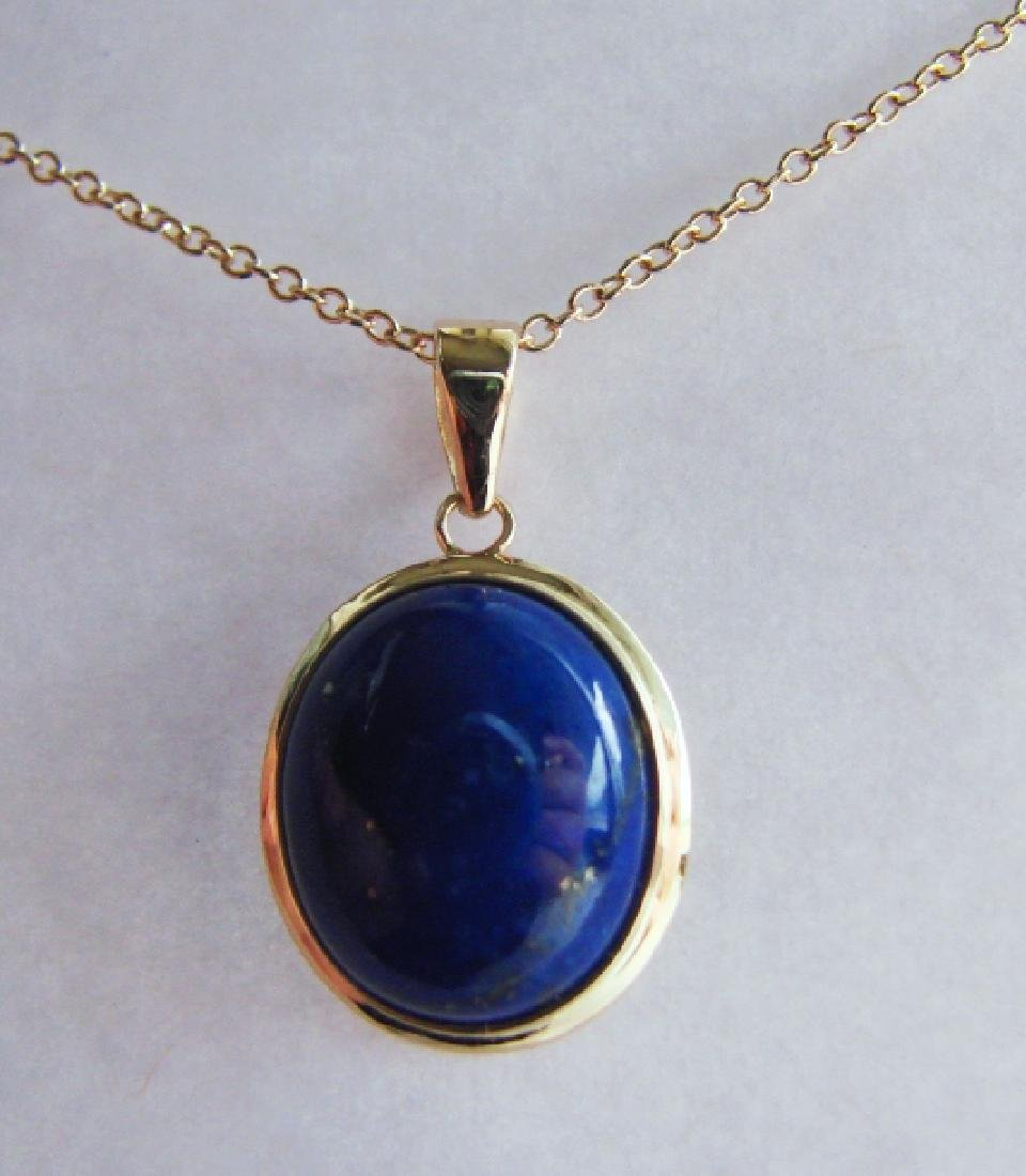 2.40 Blue Lapis Pendant Appraised at $2,975 - 2