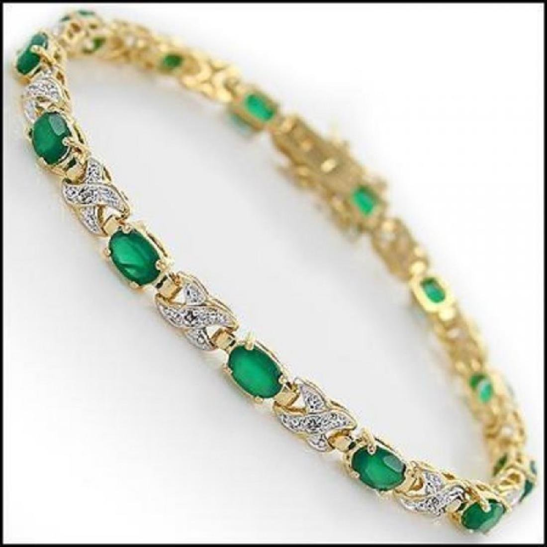 8.84 CT Green Agate & Diamond Designer Bracelet $1395