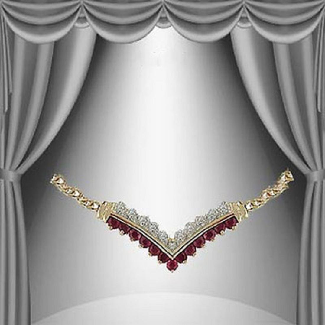 3.59 CTW Ruby & Diamond Fine Necklace $1175