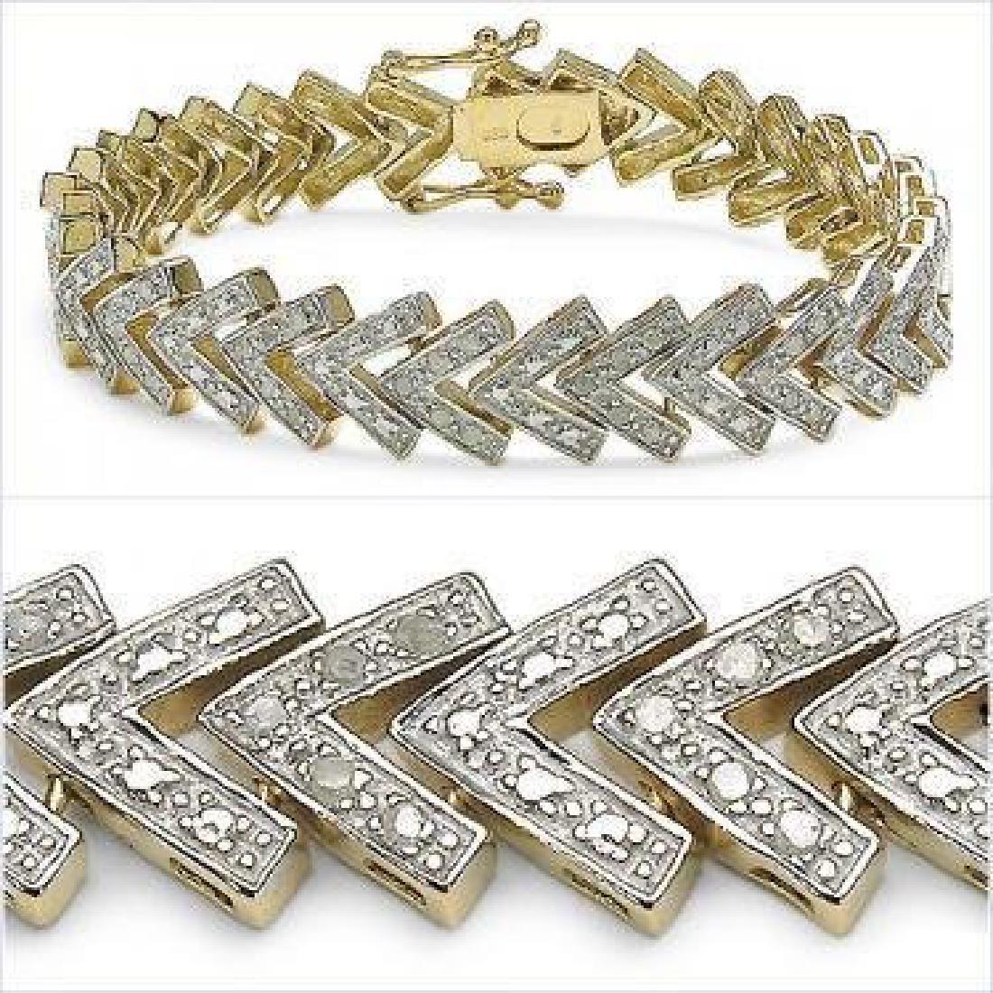 1.23 CTW Diamond Designer Bracelet