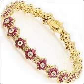 1674 Ct Ruby  Diamond Designer Bracelet