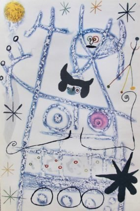 Miro LES FORESTIERS BLEU 1975 Limited Edition Litho
