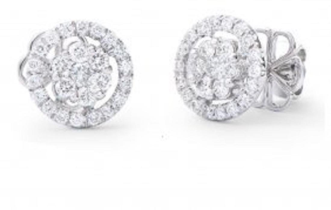 0.70 Ct Certified Diamond Designer 14Kw Errings $12,525