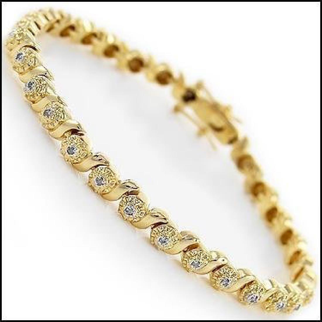 0.88 CTW Diamond Fine Designer Bracelet