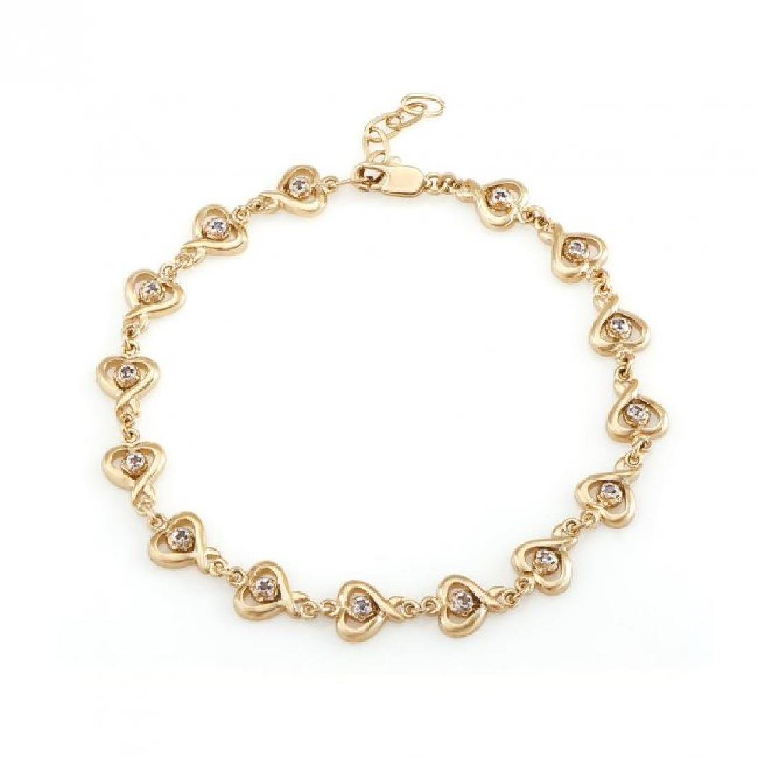 0.69 CT Diamond Designer Hearts Bracelet $1,375.00!