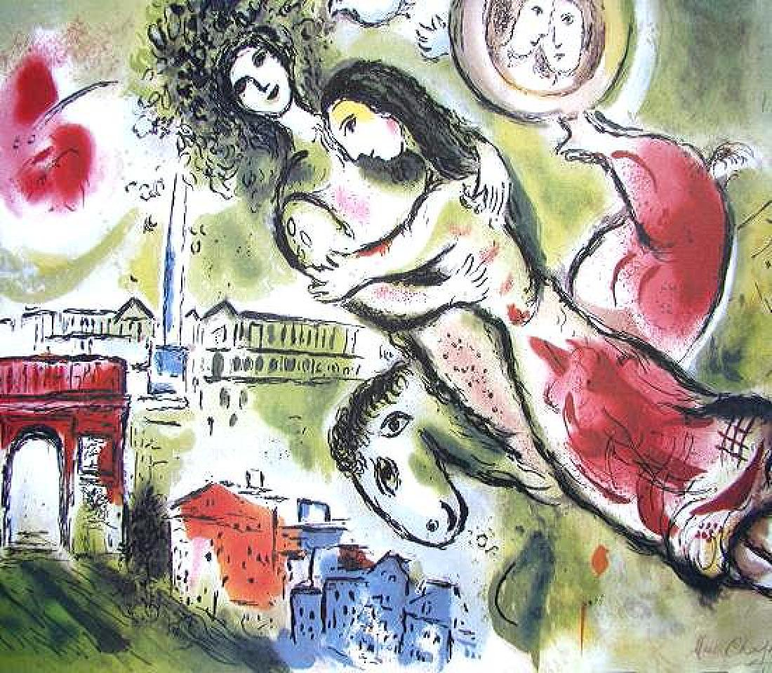 Marc Chagall Signed Litograph - Romeo and Juliet