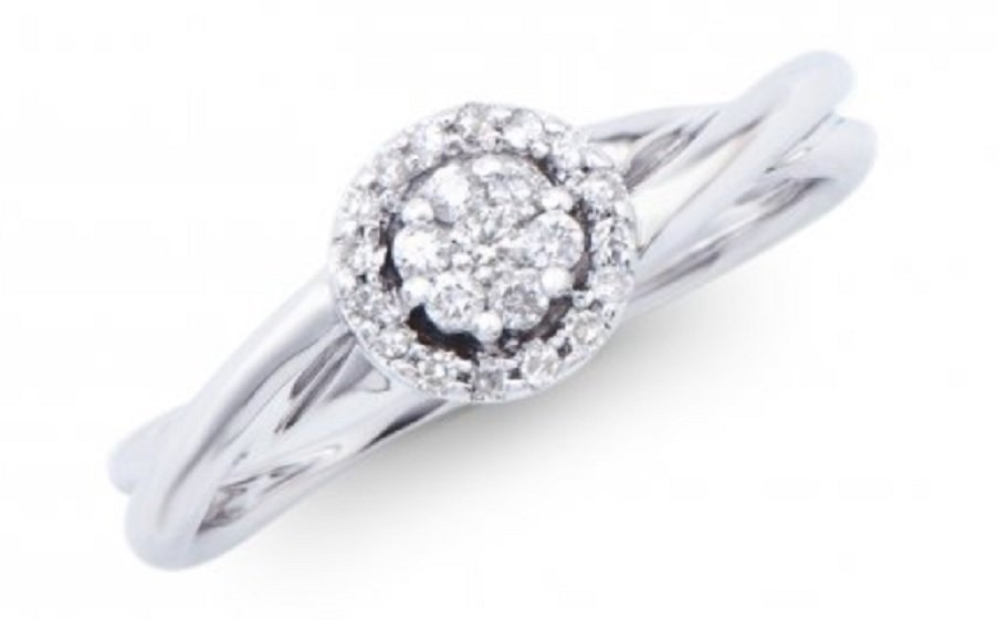 0.18 Cts Certified Diamond 14K Designer Ring $5,365.00