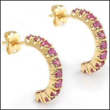 3.38 CT Rubies Designer Earrings $880