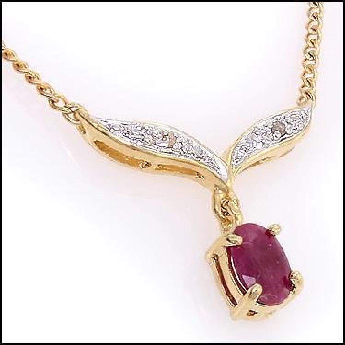 2.91 CT Ruby & Diamond Designer Necklace $855