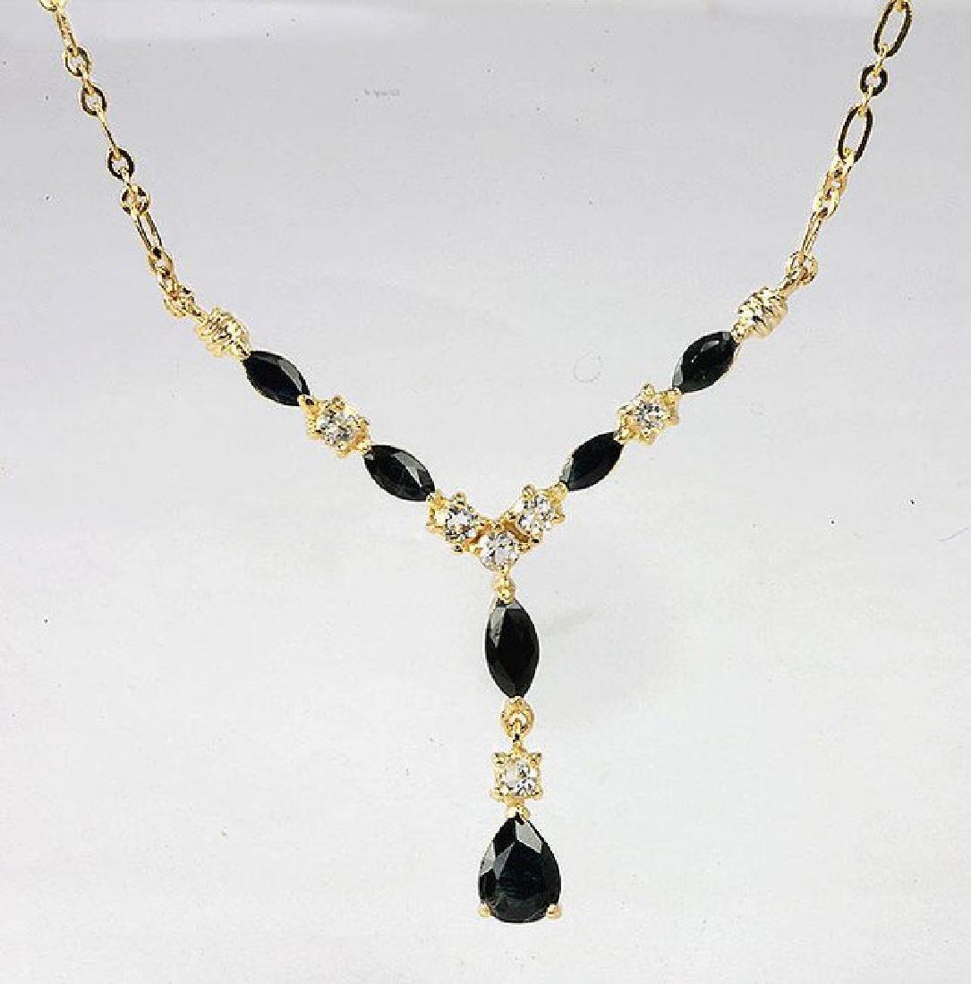 6.51 CT Sapphire & Diamond Fine Necklace $1085