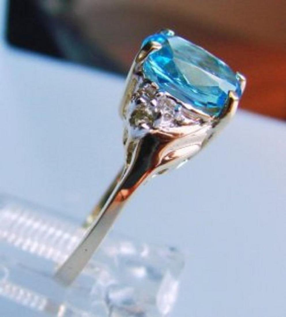 Blue Topaz and Diamond Ring - Appraised at $4,400 - 2