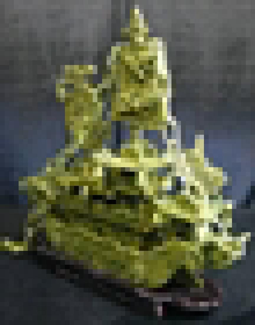 """REAL 16"""" GREEN JADE DRAGON BOAT - 2"""