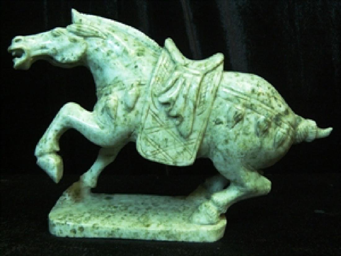 Green Jade Saddled Tang Horse