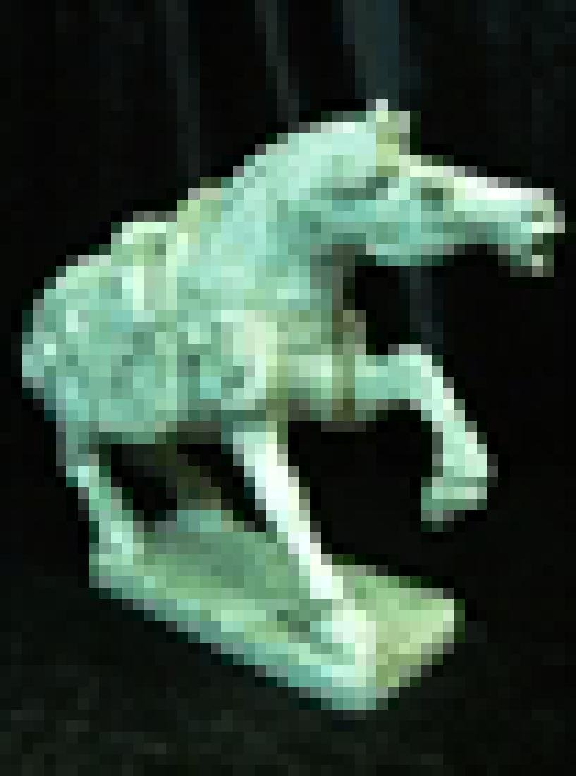 Green Jade Saddled Tang Horse - 3
