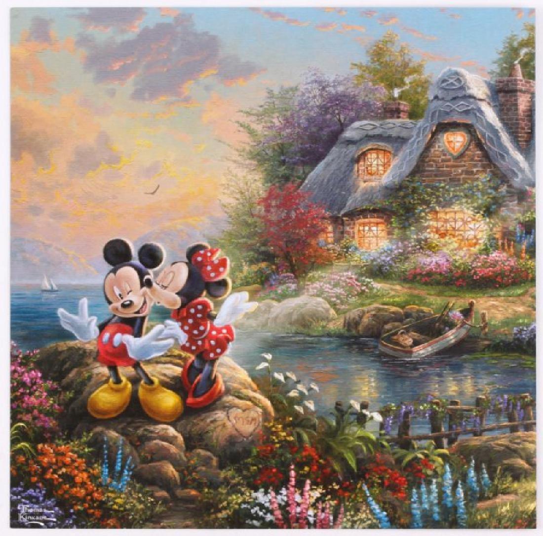 Kinkade Print Disney Mickey & Minnie - Sweetheart Cove