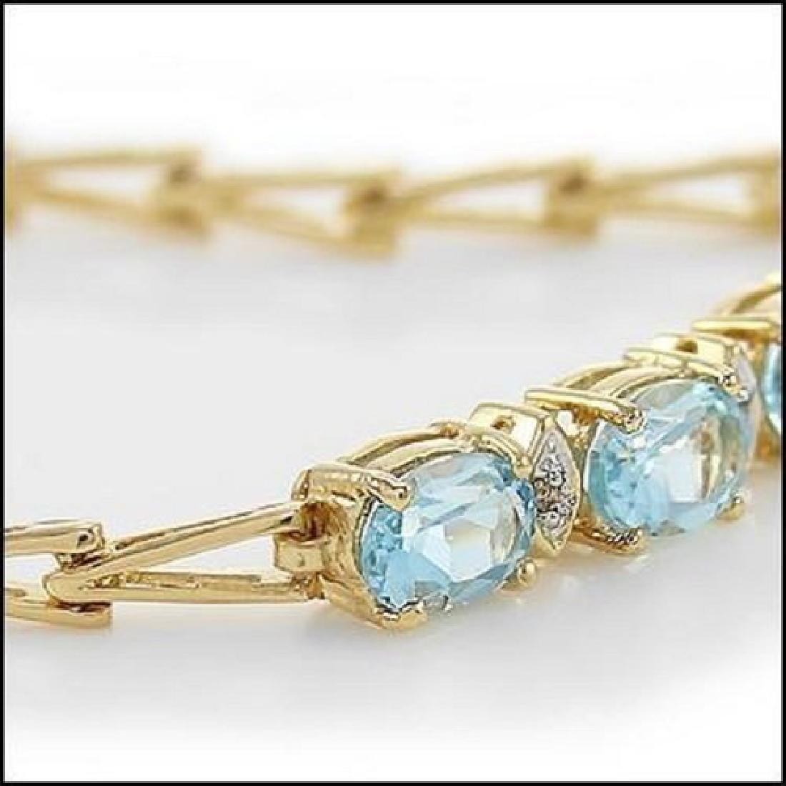 4.29 Ct Blue Topaz Diamond Fine Designer Bracelet $990 - 2