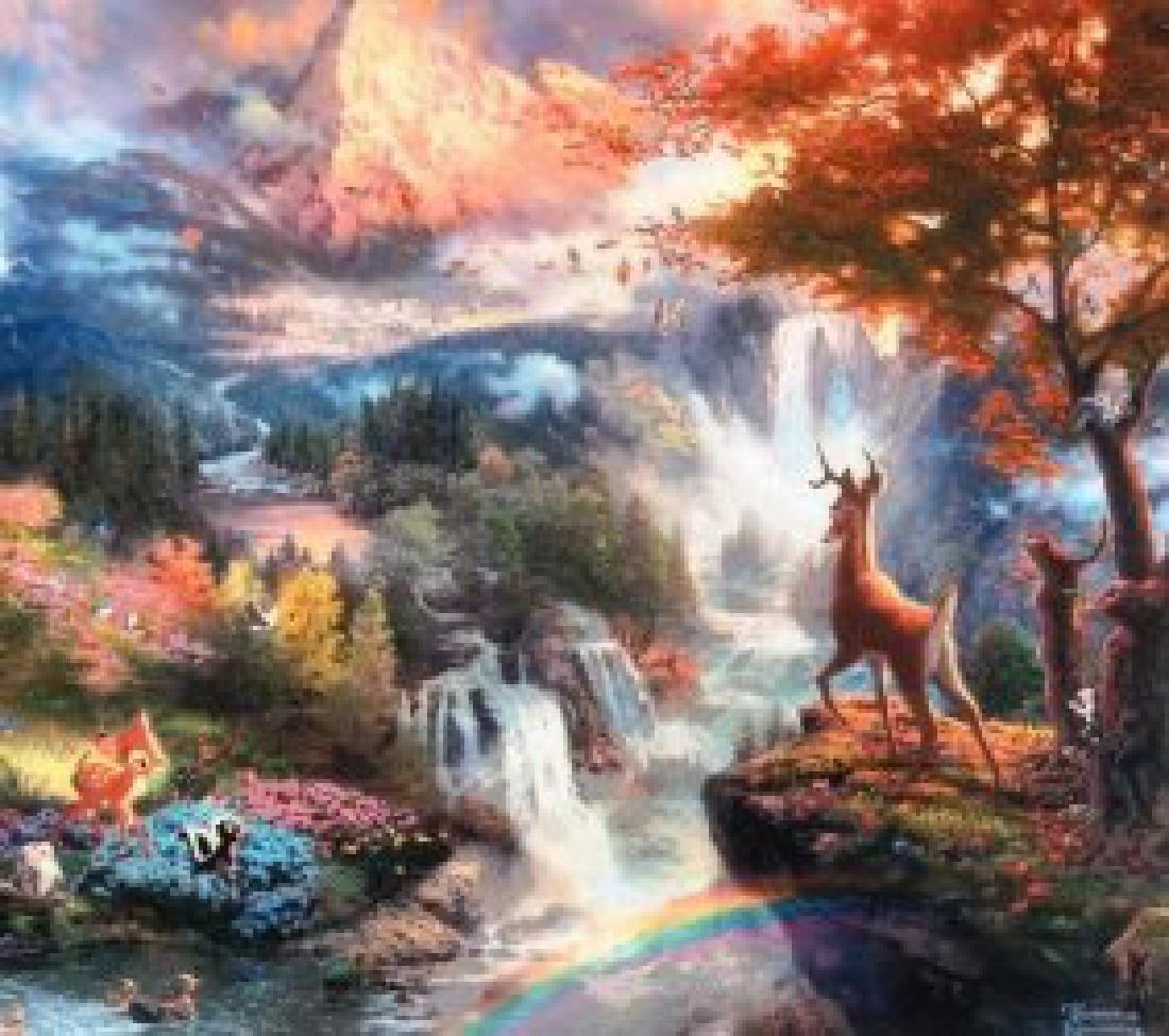 Kinkade Lithograph Disney - Bambi