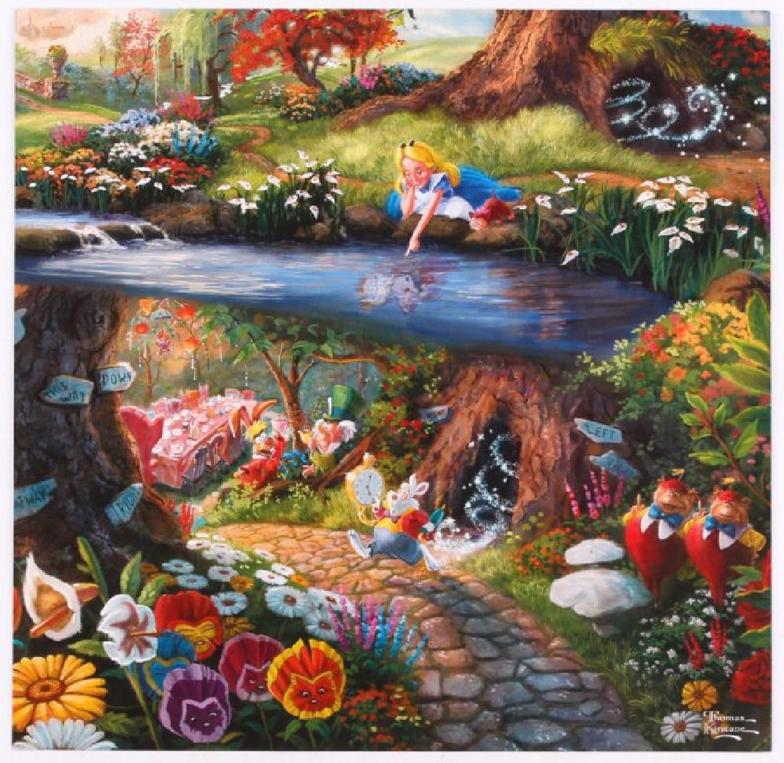 Kinkade Fine Art Print Disney Alice in Wonderland