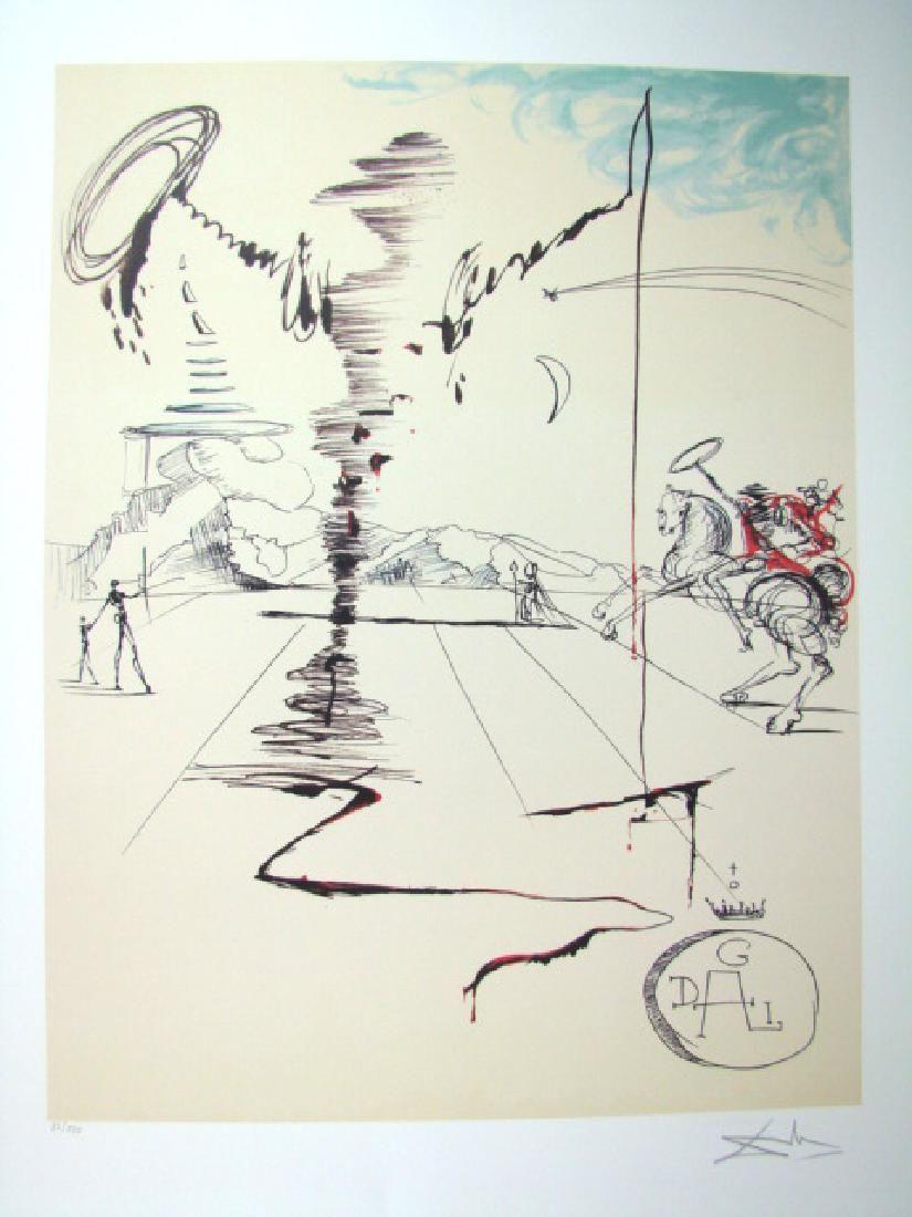 Salvador Dali Lithograph Chevalier