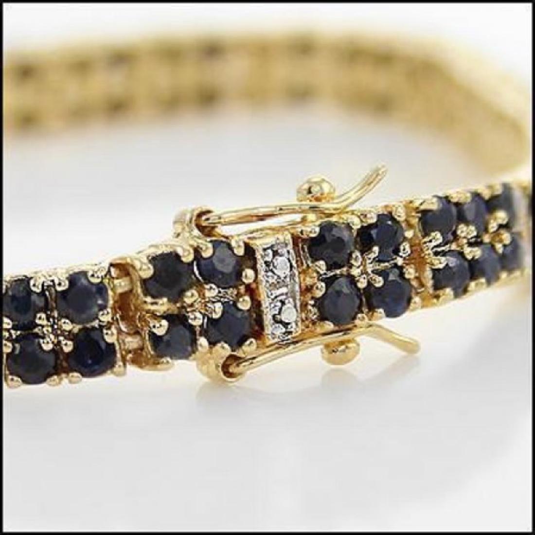 Jewelry Sale 17.69 CT Sapphire & Diamond Bracelet - 4