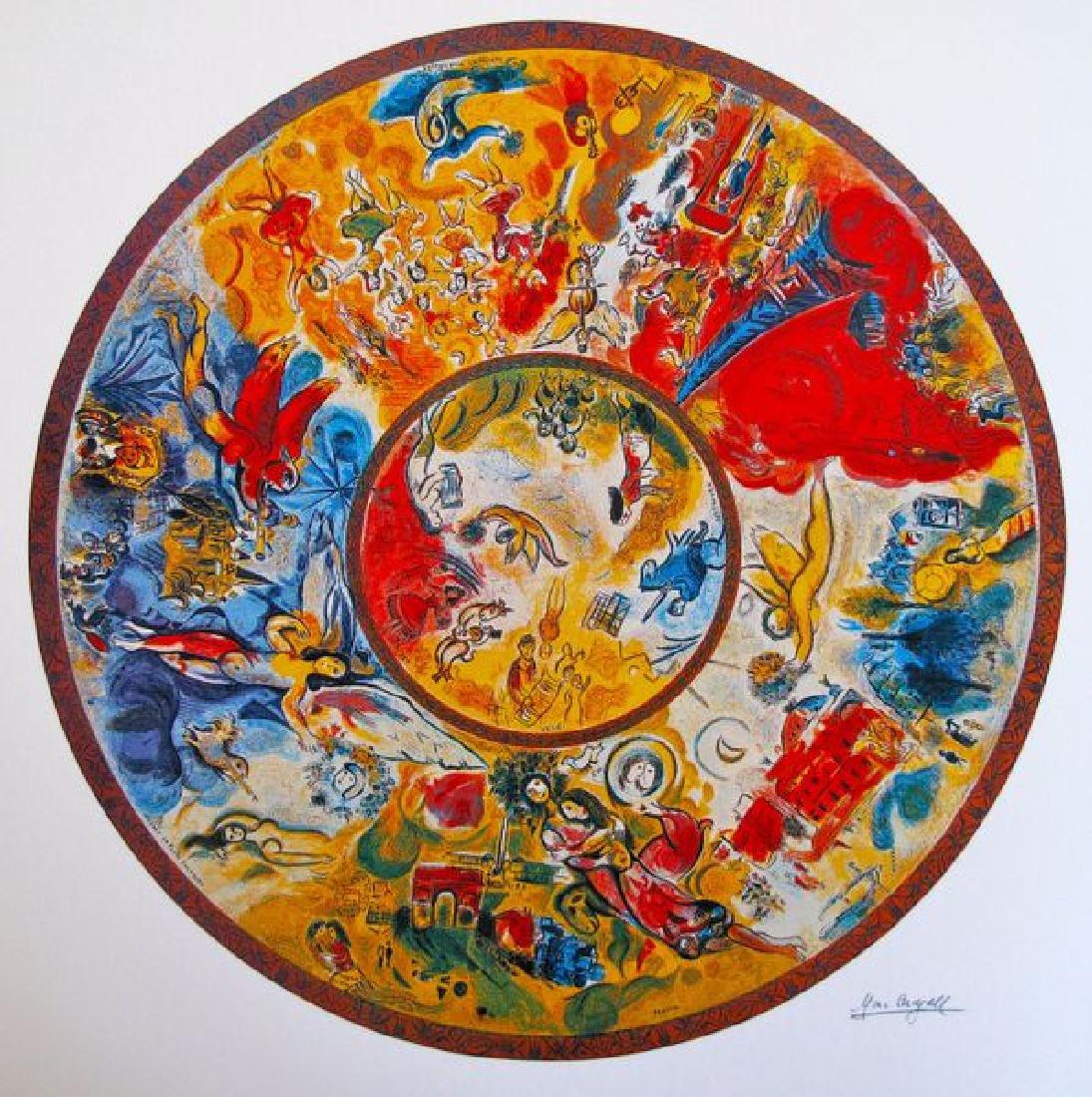 Marc Chagall PARIS OPERA CEILING Ltd Ed. Lithograph