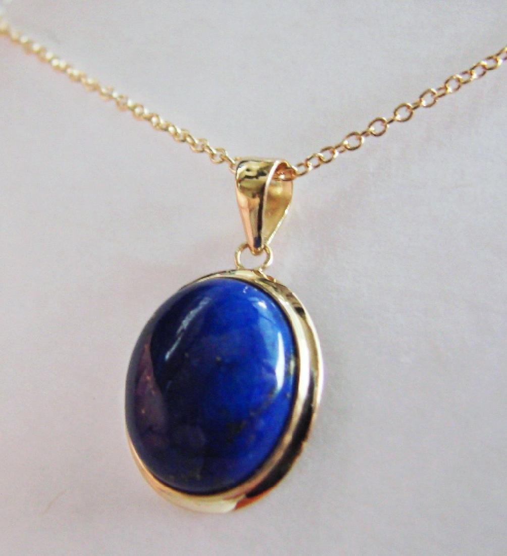 2.40 Blue Lapis Pendant Appraised at $2,975