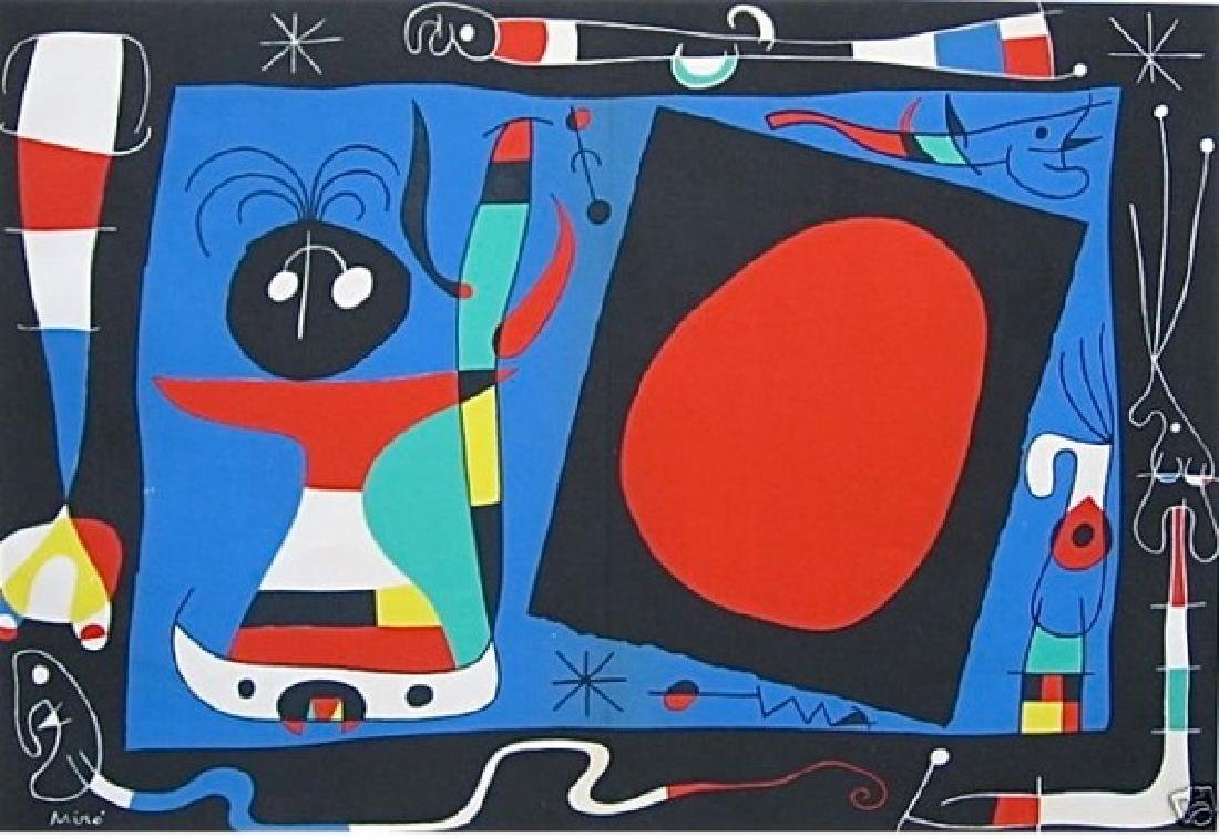 Joan Miro WOMAN AT THE MIRROR Limited Ed. Plate Signed
