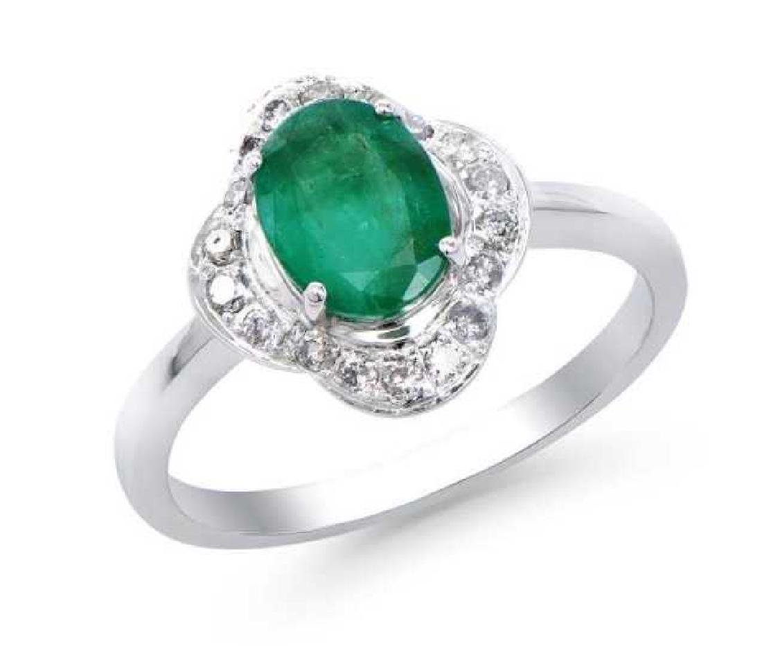1.70 Ct Certified Emerald & Diamond Ring $7,700.00!