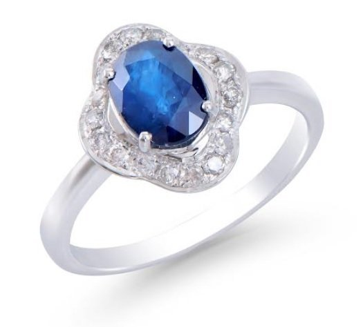 1.89 Ct Certified Sapphire & Diamond 14K Ring $7,850!