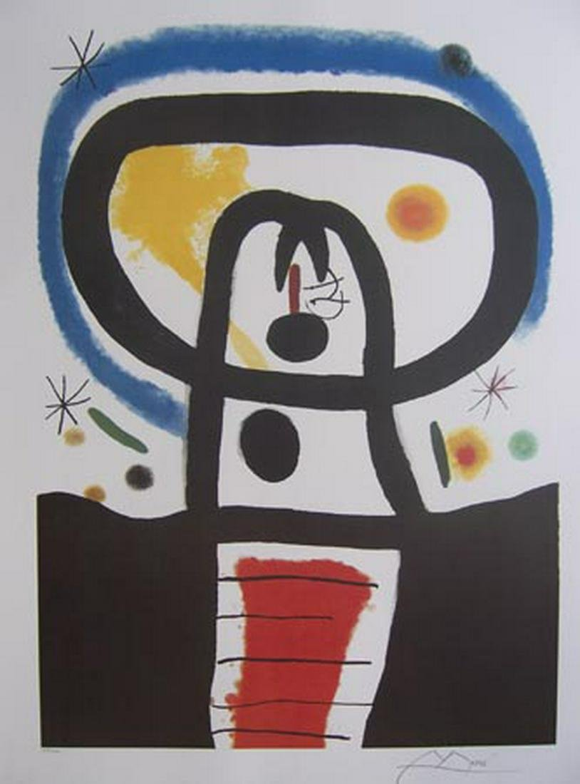 Joan Miro EQUINOX Limited Ed. Plate Signed Lithograph