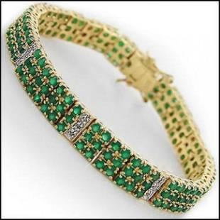 620 CT Green Agate Diamond Designer Bracelet 2200