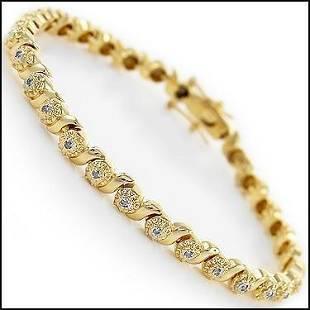032 Cts Diamond 18KGP Designer Bracelet 1810