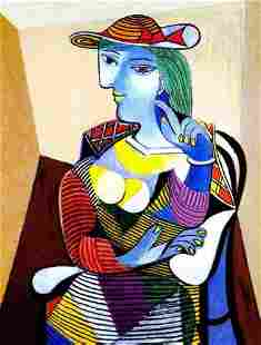 PORTRAIT OF MARIETHERESE WALTER Picasso Estate Signed