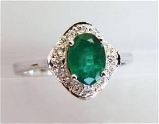 Columbia Emerald Diamond Ring Appraised 7700