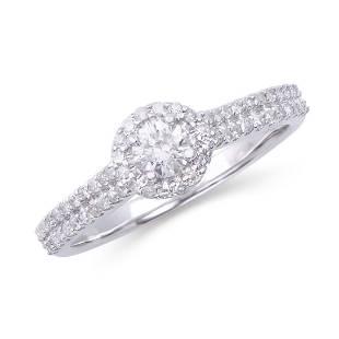 0551 Cts Certified Diamond 14K Designer Engagement