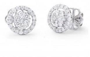 070 Ct Certified Diamond Designer 14Kw Errings 12525